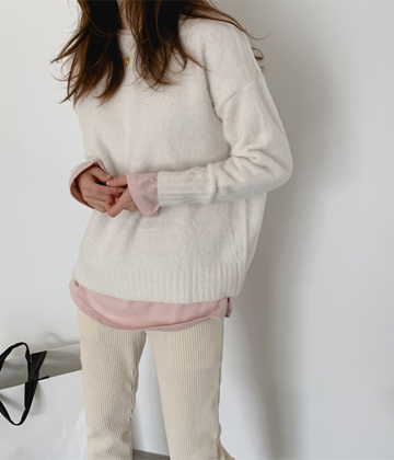 Sibori alpaca knit