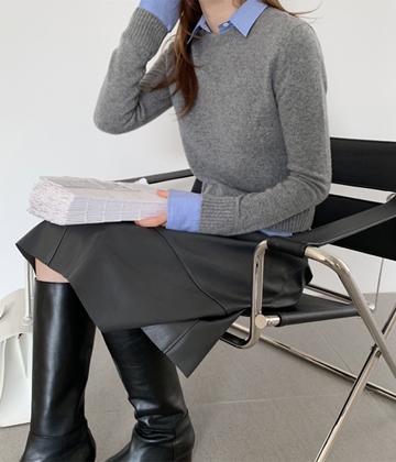 Layered shirt knit