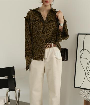 Girls frill blouse