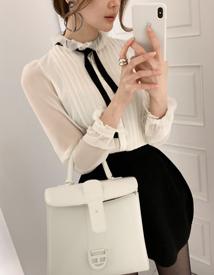 Harmony pintuck blouse