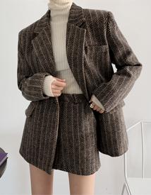 Jilsan herringbone skirt