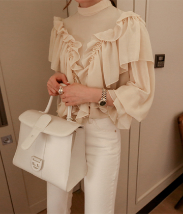 China frill blouse