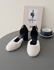 Woolly fur sandal ♩
