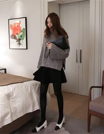 Lamb wool skirt