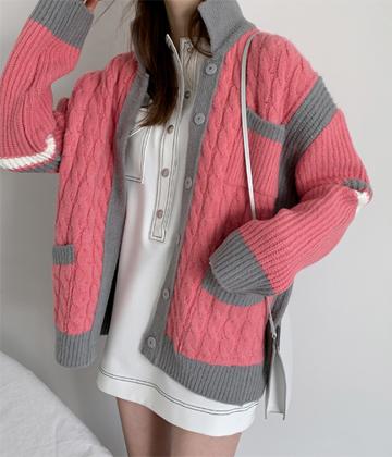 Girlish knit jacket