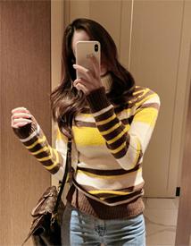 Stripe pola knit
