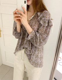 Haney ruffle blouse