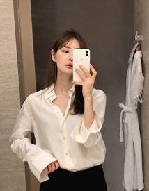 Glossy plain shirt