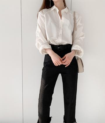Elize shirring blouse