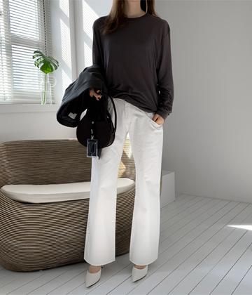 Hide pants (ivory)