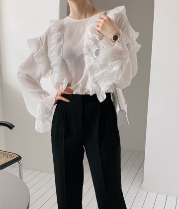 Blossom frill blouse