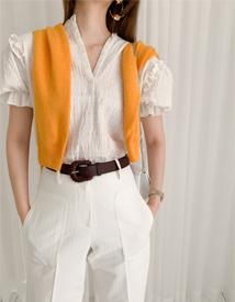 Rocha puff blouse