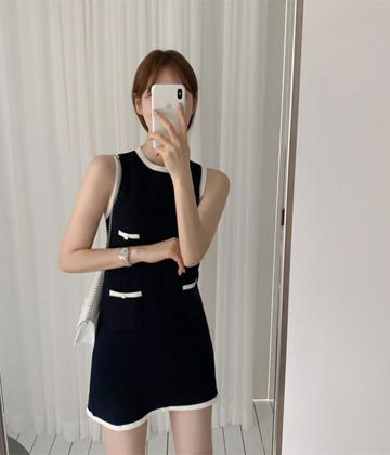 Edge line dress