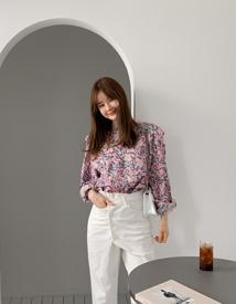 Fresh flower blouse