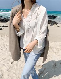 Lena frill blouse