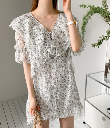 Curie frill dress