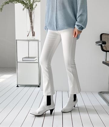 Cotton boots-cut pants