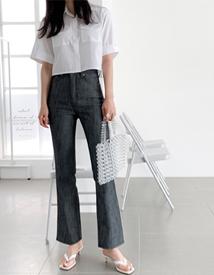 Mille boots-cut pants