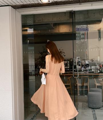 Linen flare dress
