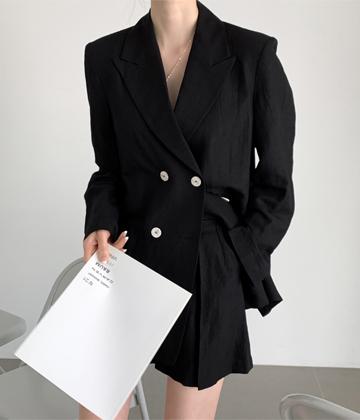 Blanc linen jacket