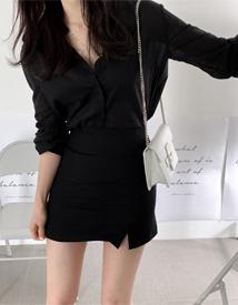 Cosy mini skirt