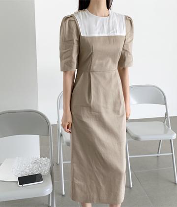 Ending linen dress