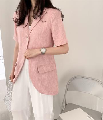 Herringbone banpal jacket