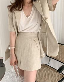 Herringbone mini skirt