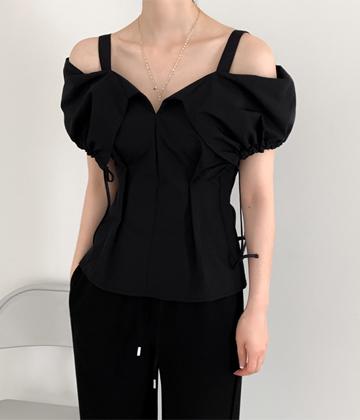 String off-shoulder blouse