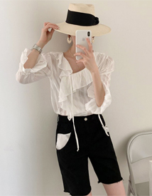 Lover frill blouse
