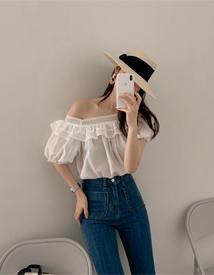 Square lace blouse