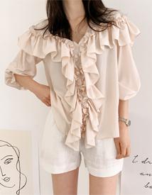 Elegance frill blouse