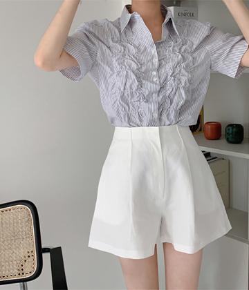 Bubble shirring blouse
