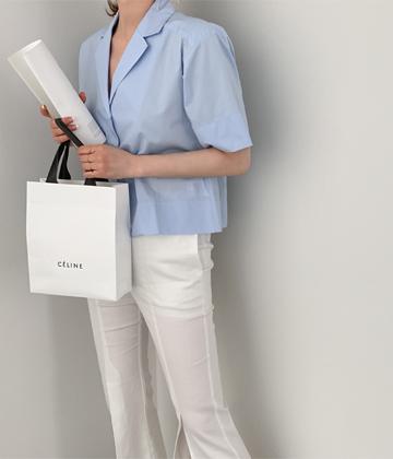 Muto crop blouse