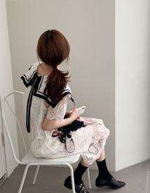 Sailor lace dress *slip set*