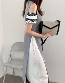 Suit layered dress