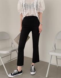 Marron boots-cut pants
