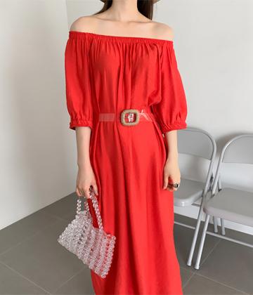 Ethnic off-shoulder dress
