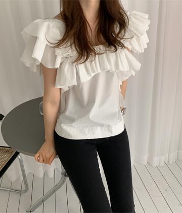 Sally frill blouse