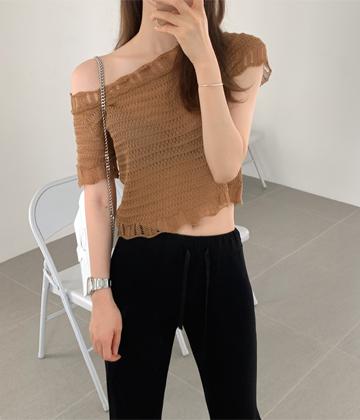Summer shoulder knit