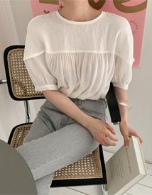 Combi linen blouse