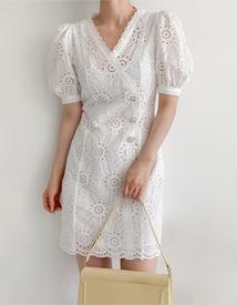 Larn cubic lace dress