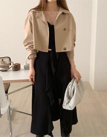 Jenny crop trench jacket