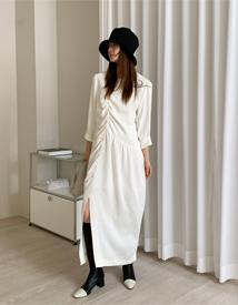 Totem shirring dress