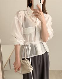Plain strap blouse