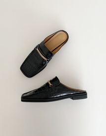 Classic chain loafer mule ♩