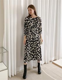 Printing long dress