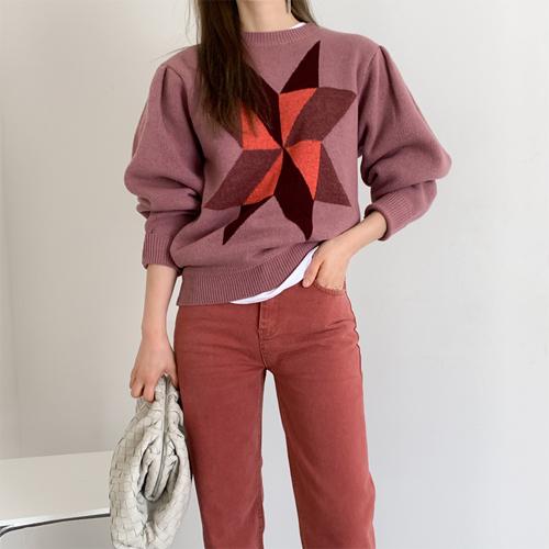 Star puff knit