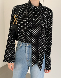 Luxury dot blouse