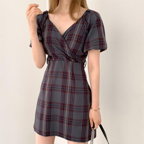 Check smocks dress